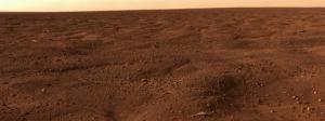 Panorama nord del pianeta marte preso dalla sonda Phoenix