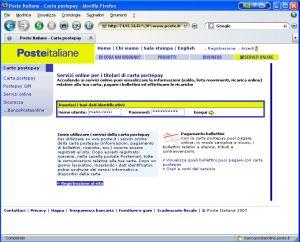 Classico Phishing con falso mittente Poste Italiane