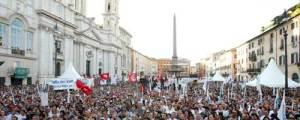 Piazza Navona per il Cav Day