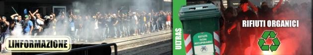 Gli ultras del Napoli alla stazione Termini di Roma